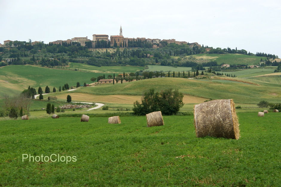 Hay Bales And Pienza