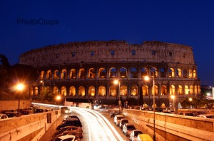 Traffic At The Colosseum