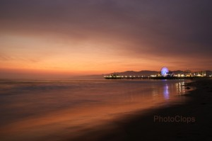 Santa Monica Pier After Sunset