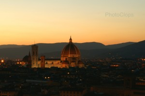 Cathedral Of Florence At Sunset