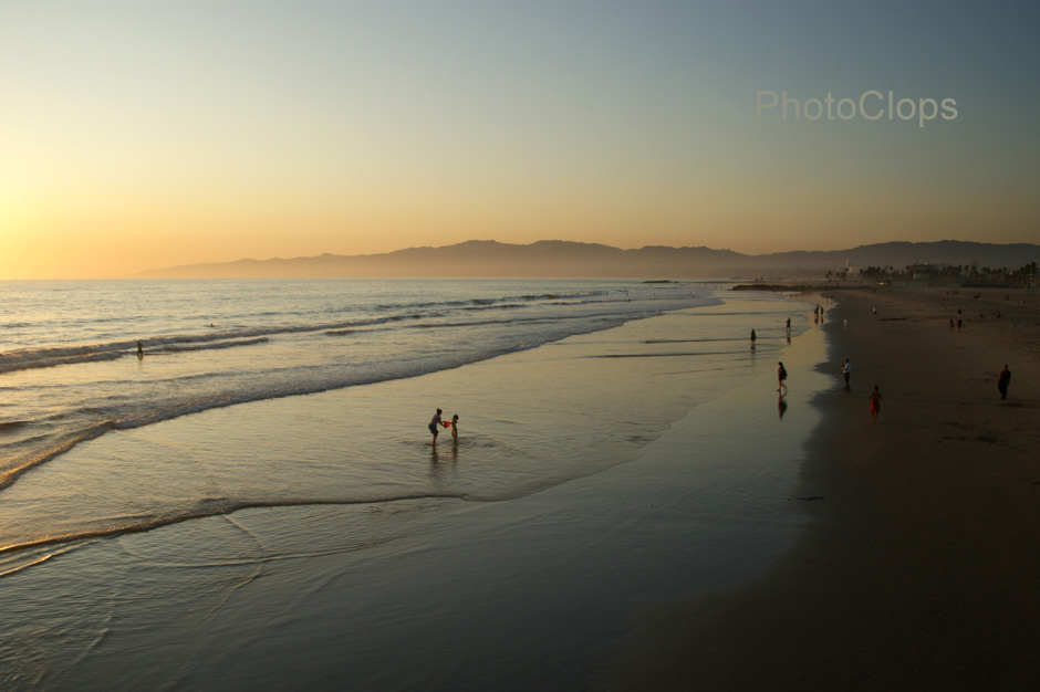 Venice Beach In The Evening