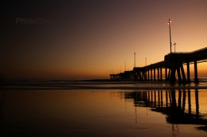 Venice Fishing Pier At Dusk