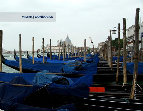 Gondolas At Piazza San Marco 2010 Calendar Print
