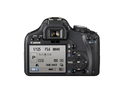 Photos of the Canon Rebel EOS T1i Rear View