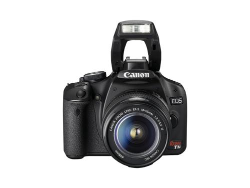 Canon EOS Rebel T1i DSLR Camera Flash Up