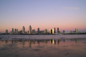 Downtown San Diego At Dusk
