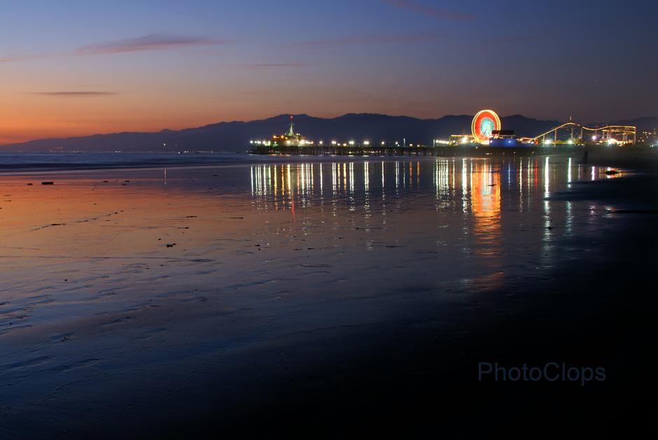 Santa Monica Pier At Dusk