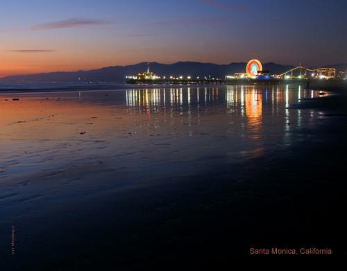 Santa Monica Pier At Dusk 2010 Calendar Print