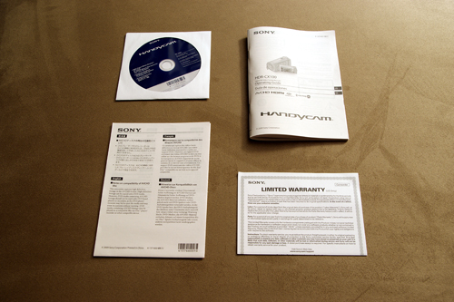 Sony HDR-CX100 Software and Documents