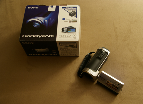 Sony HDR-CX100 Handycam Camcorder and Box