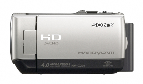 Sony HDR-CX100 Side View