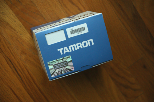 Tamron A16S Box Top With Warranty Sticker