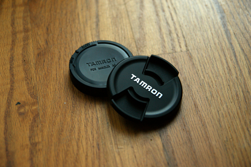 Tamron A16S Front And Rear Lens Caps