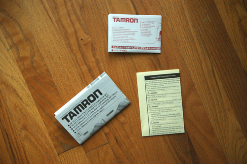 Tamron A16S Pamphlets