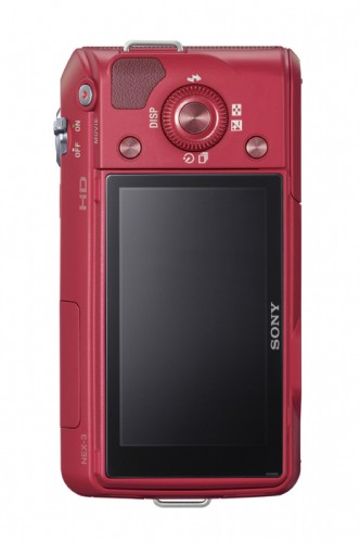 Sony Alpha NEX-3 Red Rear View