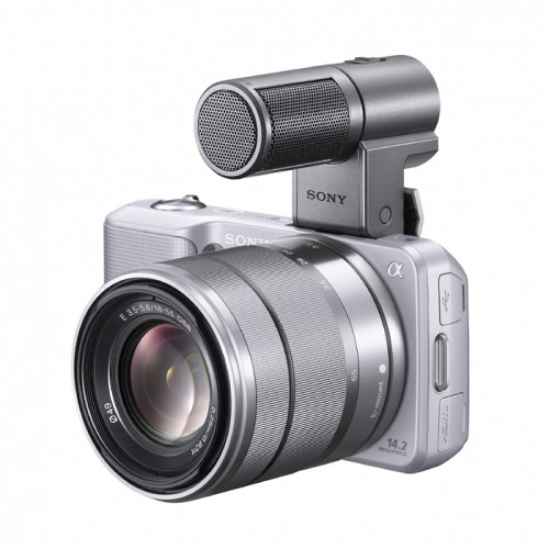Sony Alpha NEX-3 Silver With Microphone Accessory