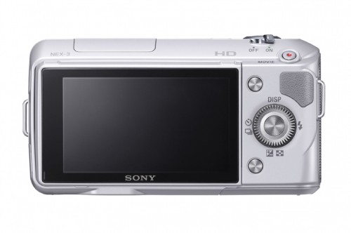 Sony Alpha NEX-3 Silver Rear View