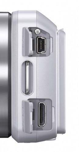 Sony Alpha NEX-3 Silver Terminals