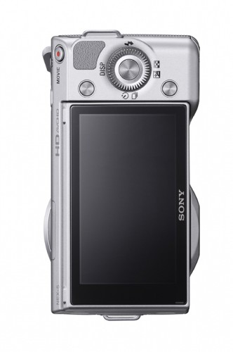 Sony Alpha NEX-5 Silver Rear View